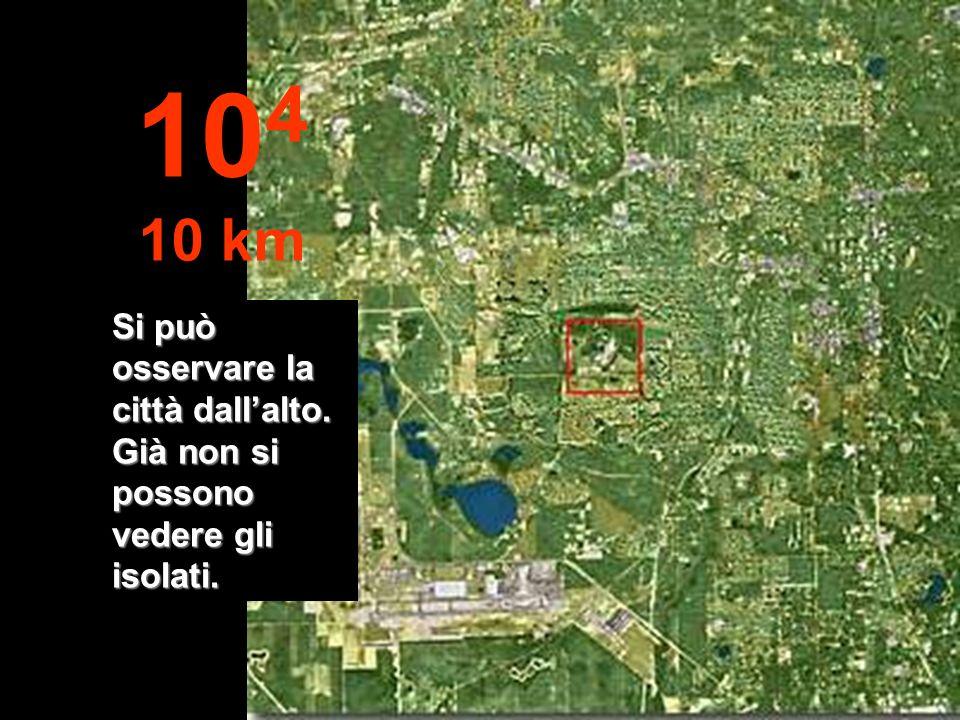 Qui passiamo da metri a km... È già possibile saltare con un paracadute... 10 3 1 km