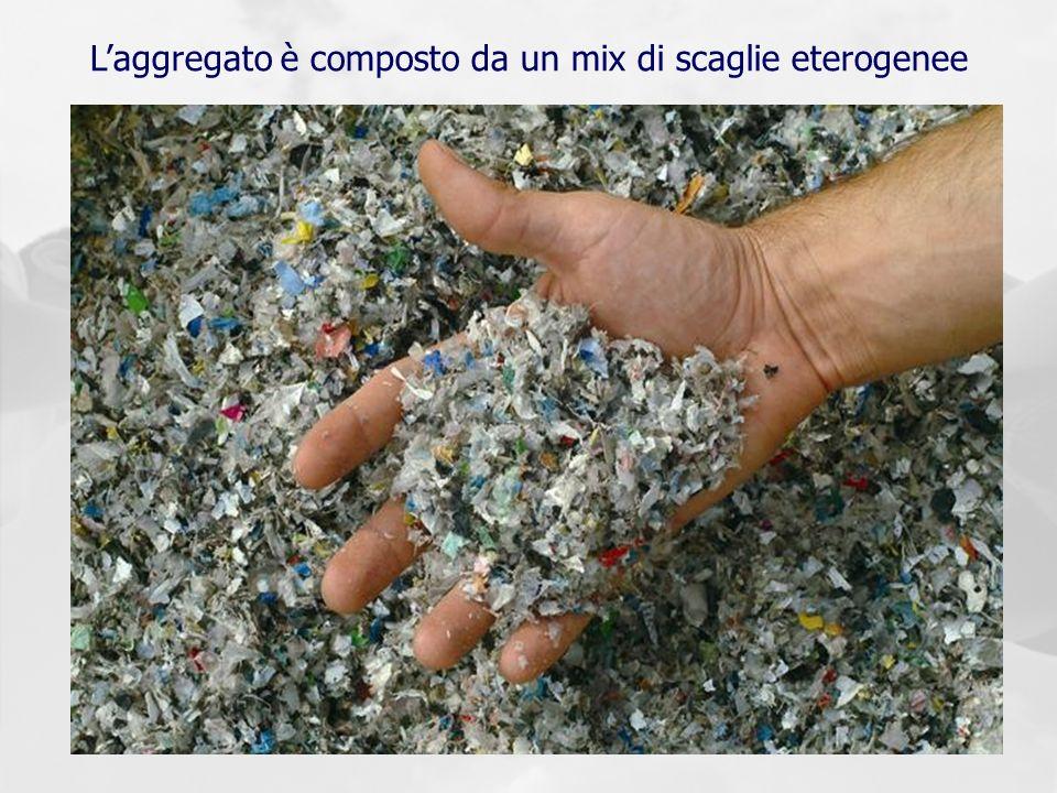 Laggregato è composto da un mix di scaglie eterogenee