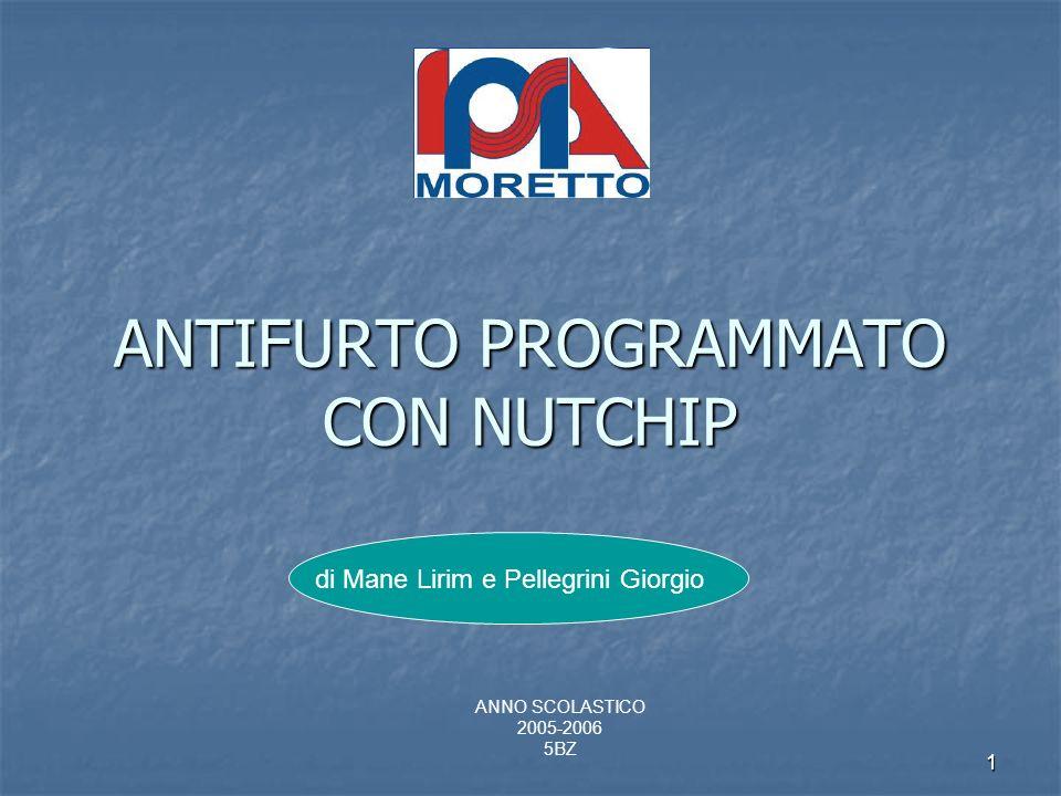 1 ANTIFURTO PROGRAMMATO CON NUTCHIP di Mane Lirim e Pellegrini Giorgio ANNO SCOLASTICO 2005-2006 5BZ