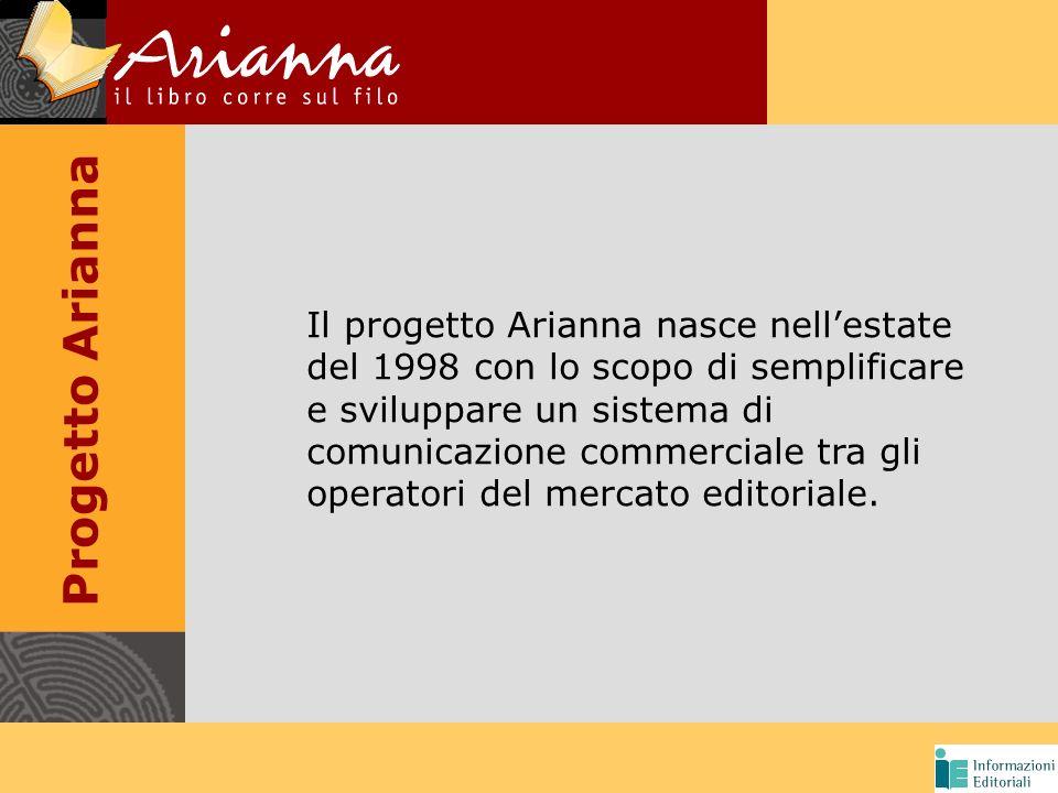 Progetto Arianna Il progetto Arianna nasce nellestate del 1998 con lo scopo di semplificare e sviluppare un sistema di comunicazione commerciale tra gli operatori del mercato editoriale.