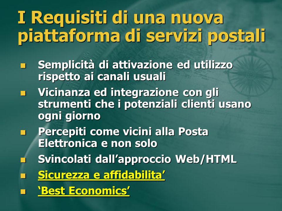 I vantaggi attesi di una piattaforma integrata basata su web services Integrazione di piu servizi eterogenei Integrazione di piu servizi eterogenei I servizi al cliente e non viceversa (es.