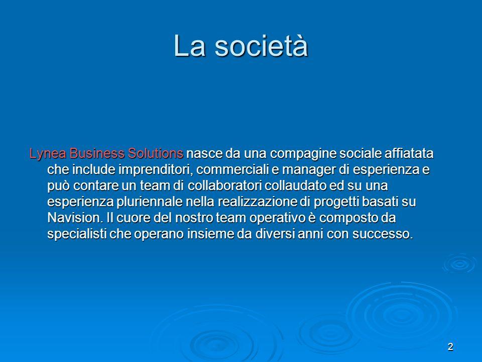 2 La società Lynea Business Solutions nasce da una compagine sociale affiatata che include imprenditori, commerciali e manager di esperienza e può con
