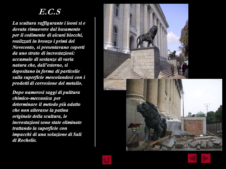 RESTAURO DEL MONUMENTO PRIMA MUSEO NAZIONALE E DAL 1991 TRIBUNALE CENTRALE Il restauro di un monumento collocato in ambiente esterno impone uno studio