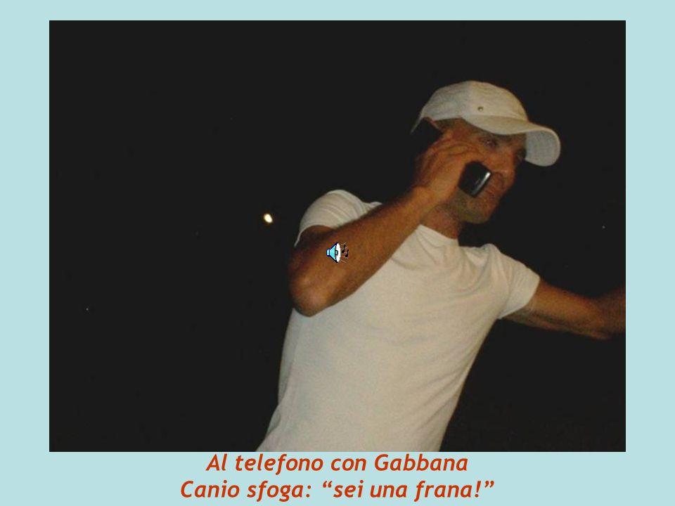 Al telefono con Gabbana Canio sfoga: sei una frana!
