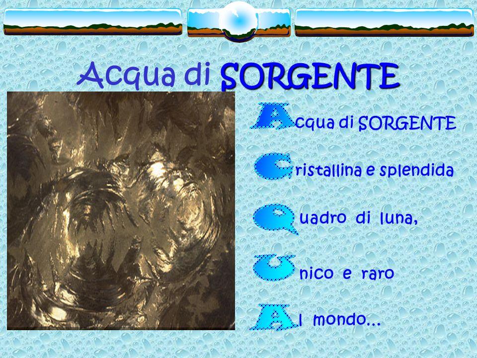 SORGENTE Acqua di SORGENTE cqua di SORGENTE ristallina e splendida uadro di luna, nico e raro l mondo…