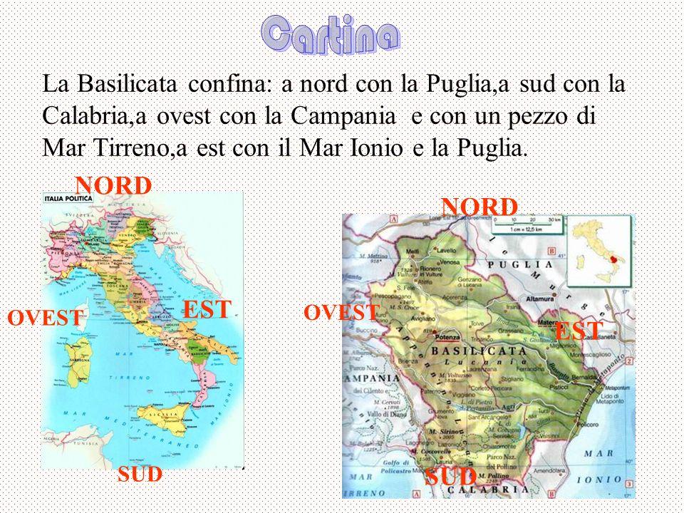 Lo stemma della Basilicata è rappresentato da quattro fiumi che sono i più importanti e delimitano i quattro territori della regione.