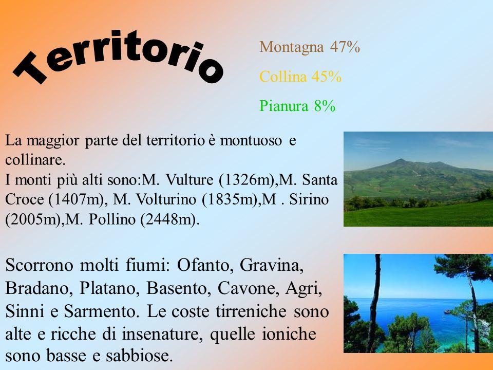 La Basilicata confina: a nord con la Puglia,a sud con la Calabria,a ovest con la Campania e con un pezzo di Mar Tirreno,a est con il Mar Ionio e la Pu