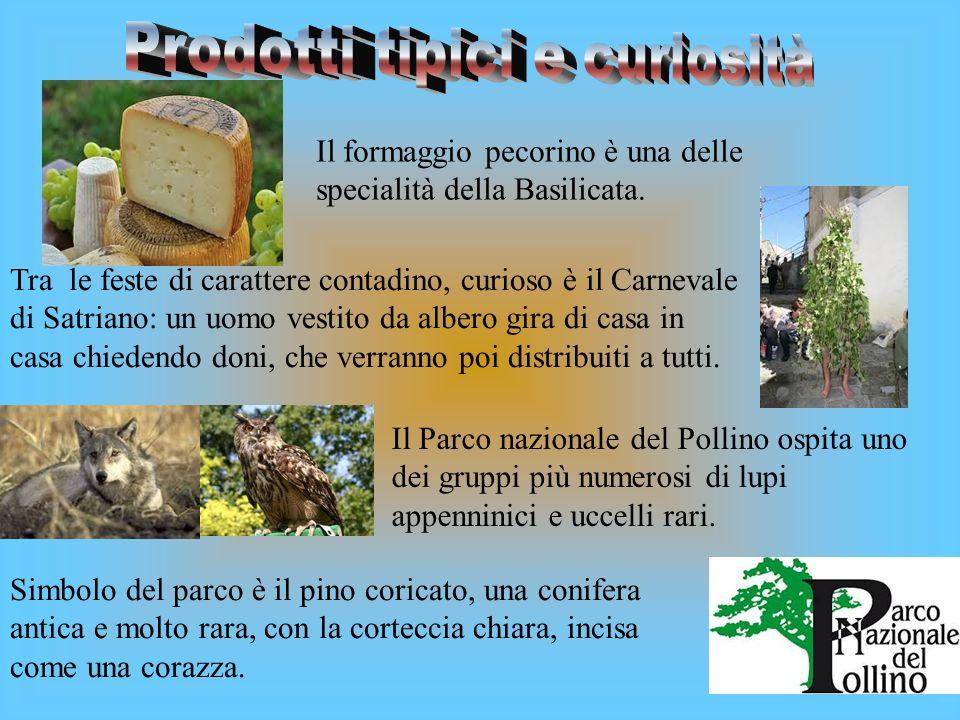 Le province della Basilicata sono: POTENZA Matera