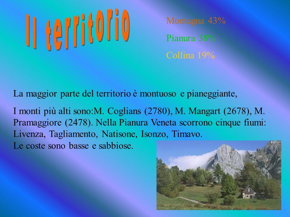 Il Friuli Venezia Giulia confina : a nord con lAustria, a sud con il Mar Adriatico,a ovest con il Veneto e a est con la Slovenia. NORD EST SUD OVEST S