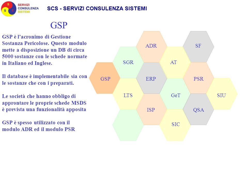 SGR ADR SIC GeT AT LTS GSPPSRERP QSAISP SF Il modulo ISPEZIONI è stato sviluppato per i gestori (proprietari o società di service) delle apparecchiature soggette a corrosione.