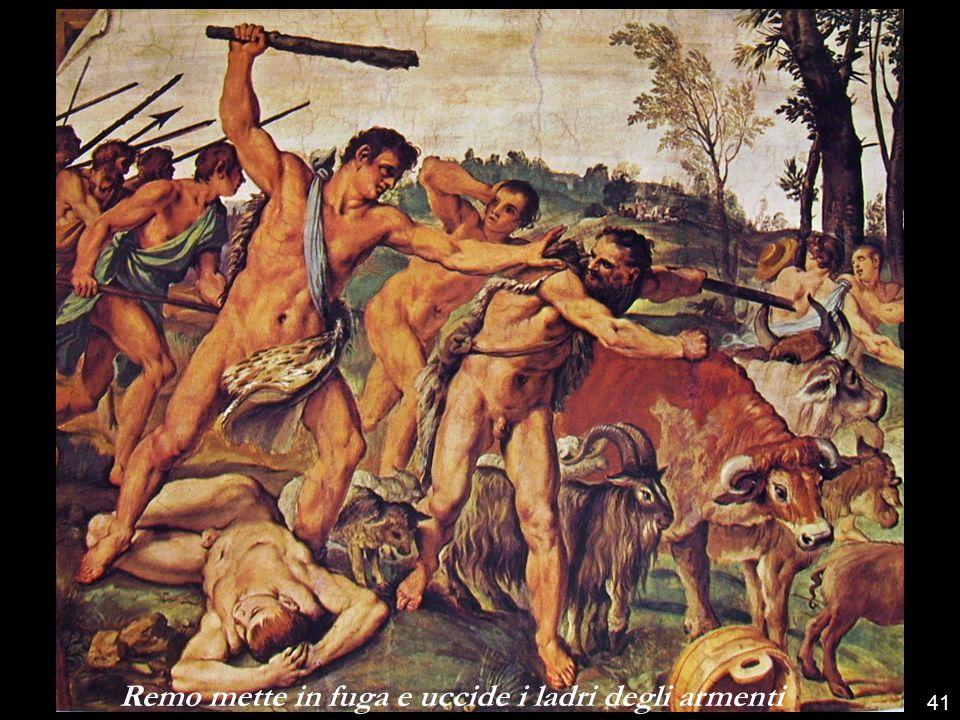 Romolo traccia con l'aratro il confine della città di Roma 40