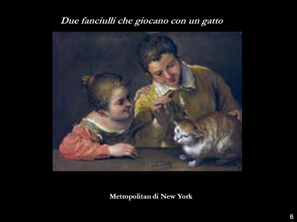 Due fanciulli che giocano con un gatto Metropolitan di New York 6