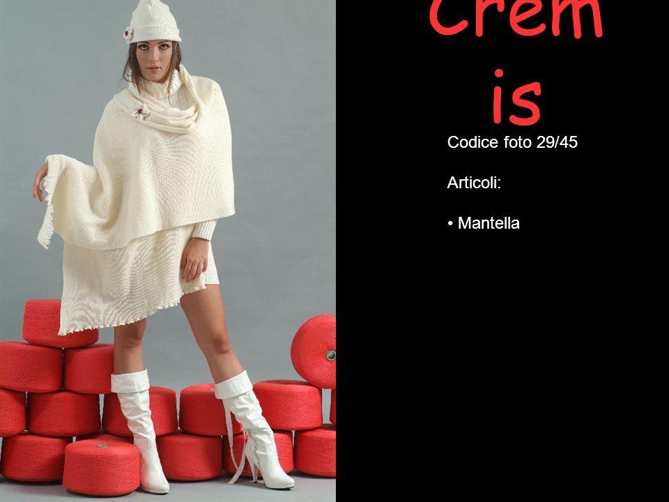 Crem is Codice foto 29/45 Articoli: Mantella