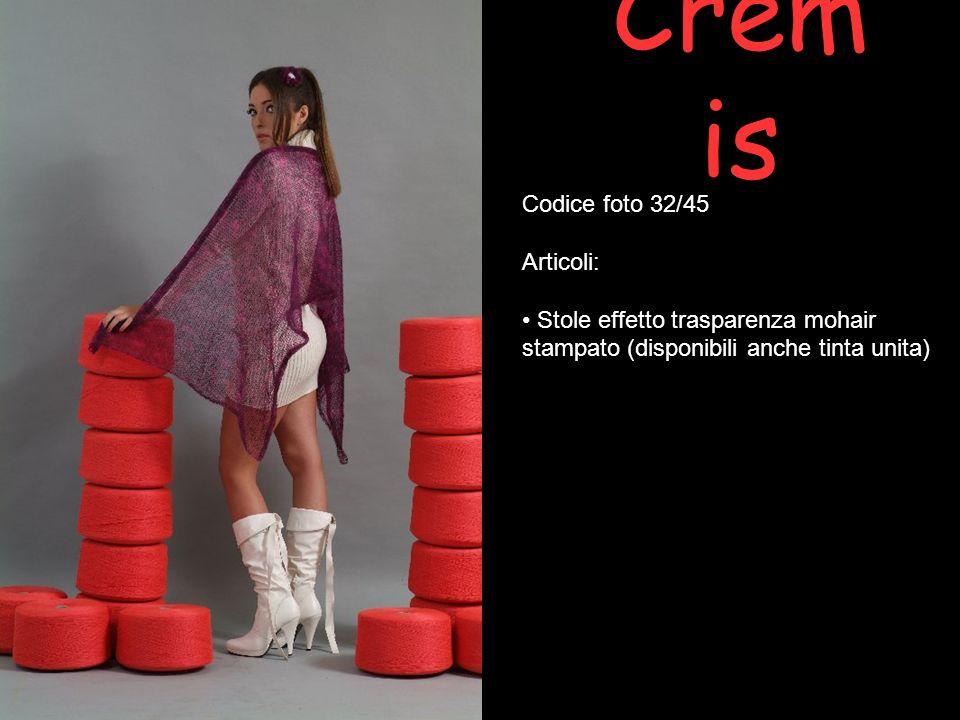 Crem is Codice foto 32/45 Articoli: Stole effetto trasparenza mohair stampato (disponibili anche tinta unita)