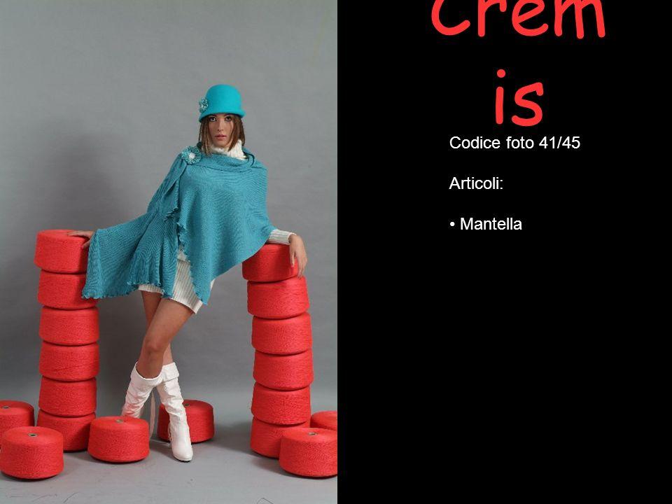 Crem is Codice foto 41/45 Articoli: Mantella