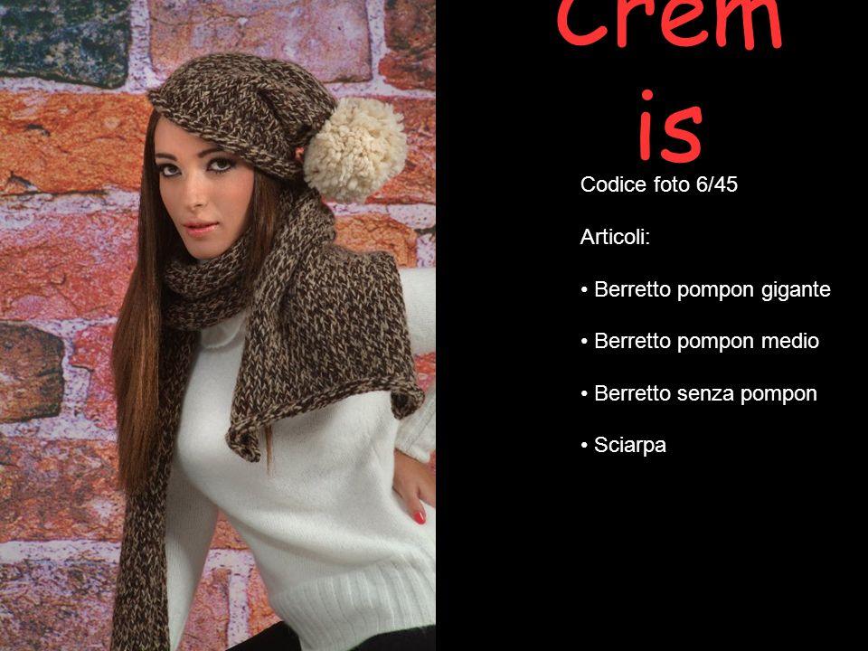 Crem is Codice foto 27/45 Articoli: Abito manica lunga Maxi collo con applicazione fiore stella alpina Basco mohair con applicazione stella alpina Spilla Fermaglio
