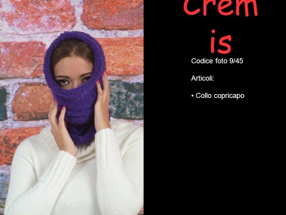 Crem is Codice foto 40/45 Articoli: Cappello feltro con applicazione fiore tweed Collo incrociato (spilla esclusa) Spilla Fermaglio www.creazionicremis.it