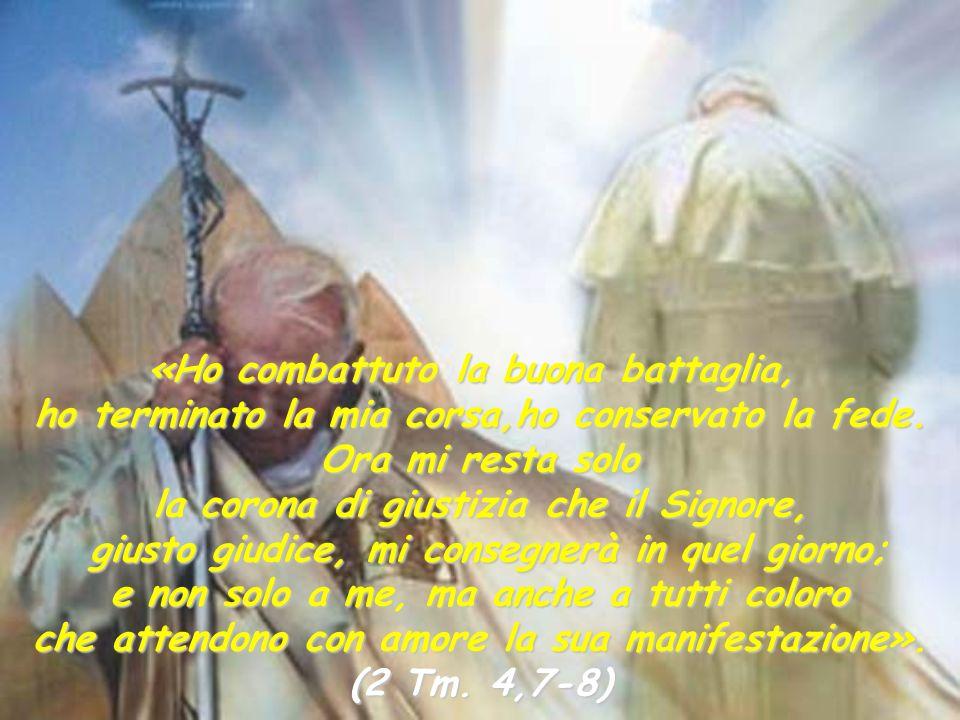 La speranza certa della risurrezione illumina la Chiesa nel momento del passaggio di Giovanni Paolo II, dalla vita terrena a quella eterna. Risplendon