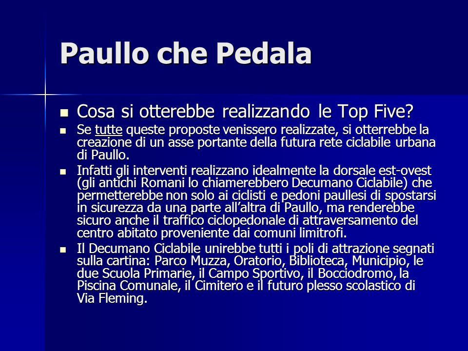 Paullo che Pedala Cosa si otterebbe realizzando le Top Five? Cosa si otterebbe realizzando le Top Five? Se tutte queste proposte venissero realizzate,