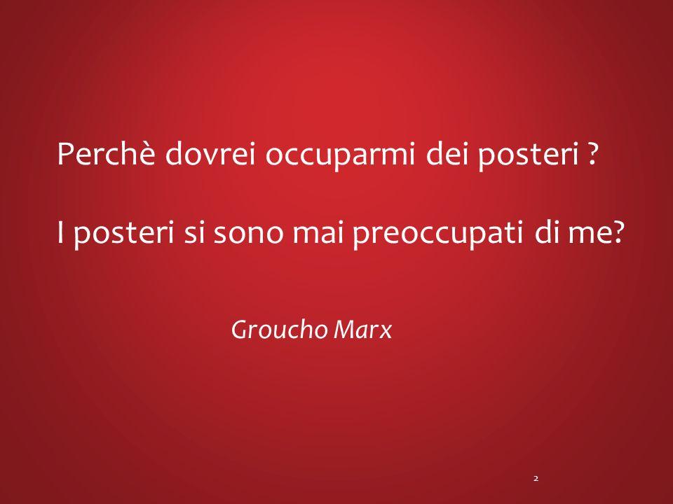 Perchè dovrei occuparmi dei posteri ? I posteri si sono mai preoccupati di me? Groucho Marx 2