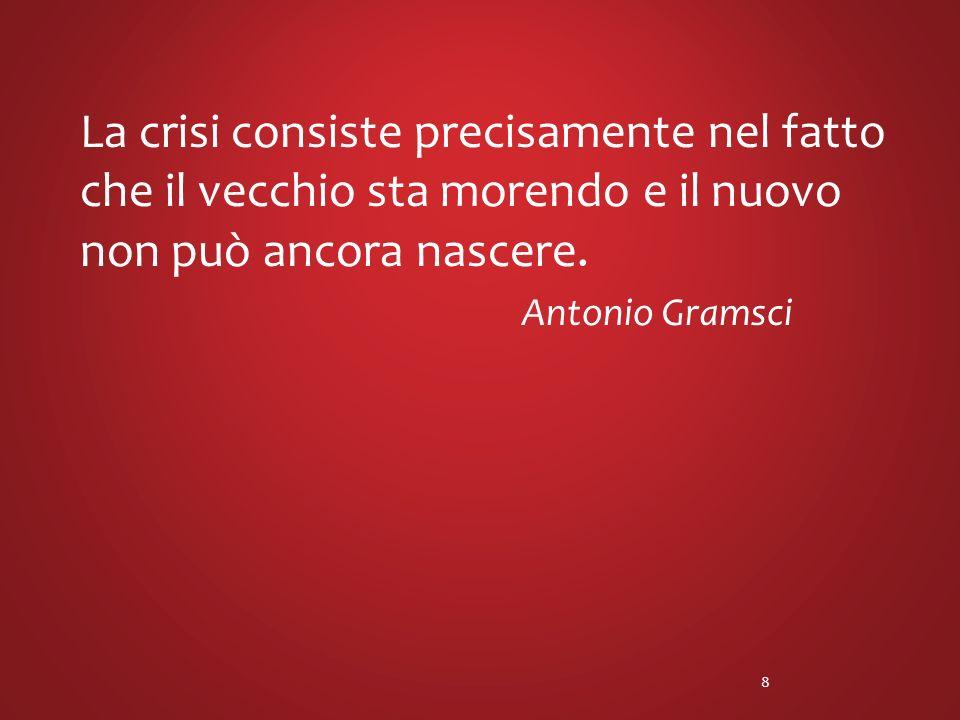 La crisi consiste precisamente nel fatto che il vecchio sta morendo e il nuovo non può ancora nascere.