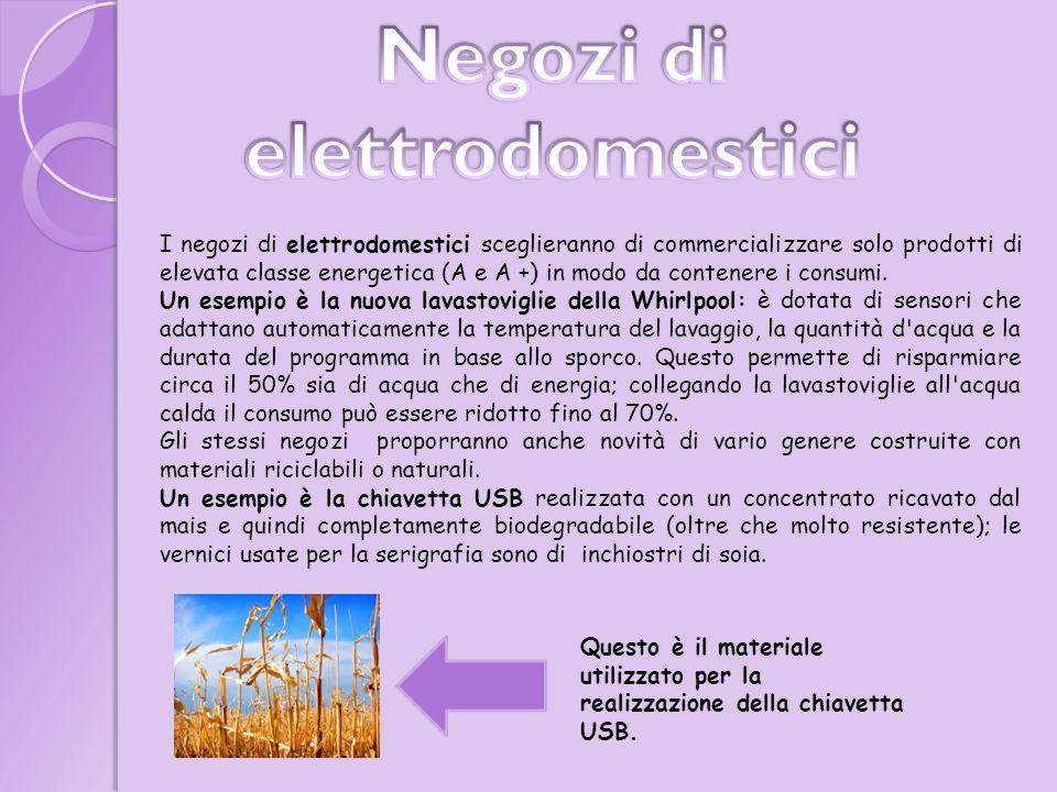 I negozi di elettrodomestici sceglieranno di commercializzare solo prodotti di elevata classe energetica (A e A +) in modo da contenere i consumi.
