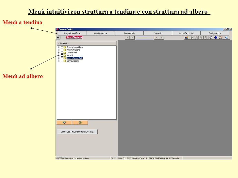 Menù intuitivi con struttura a tendina e con struttura ad albero Menù a tendina Menù ad albero