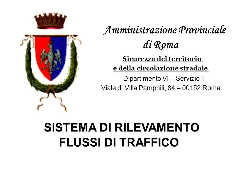 Amministrazione Provinciale di Roma Sicurezza del territorio e della circolazione stradale Dipartimento VI – Servizio 1 Viale di Villa Pamphili, 84 –