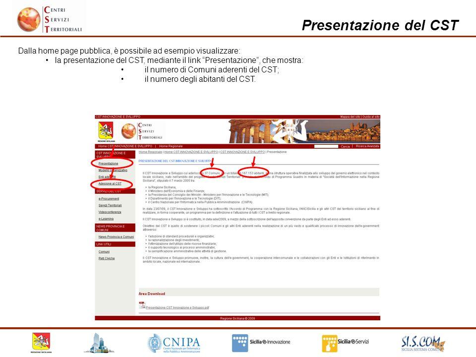 Presentazione del CST etc.