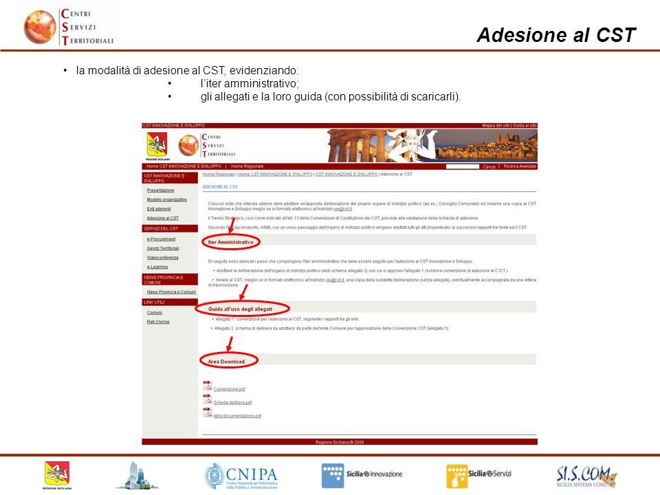 Home page privata del CST etc.