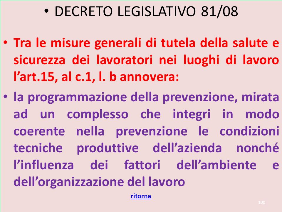Art 2087 CODICE CIVILE ART.