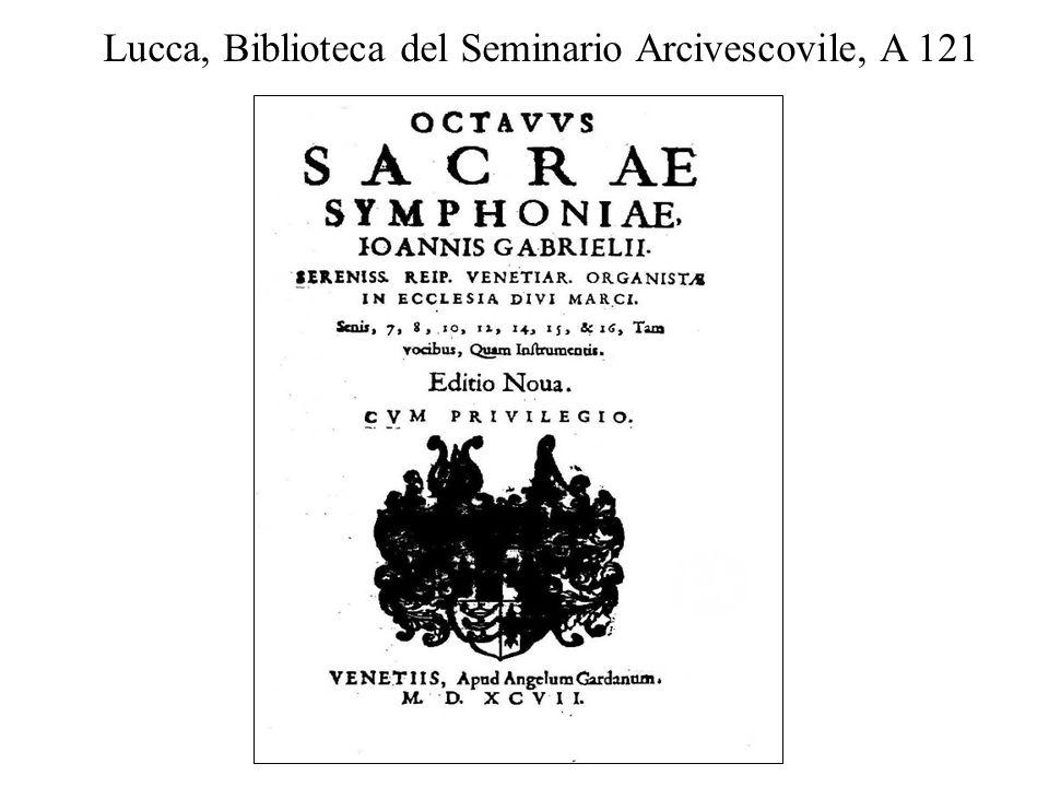 Lucca, Biblioteca del Seminario Arcivescovile, A 121