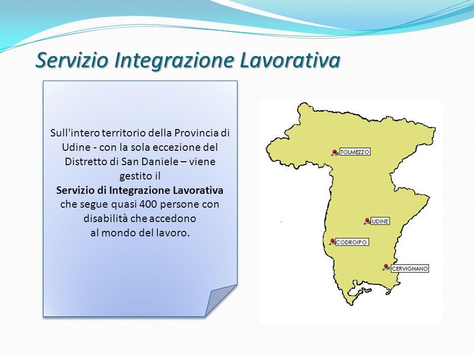 Servizio Integrazione Lavorativa Sull'intero territorio della Provincia di Udine - con la sola eccezione del Distretto di San Daniele – viene gestito