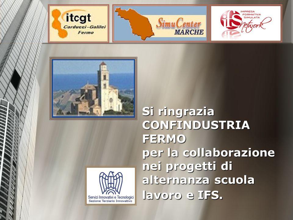 Si ringrazia CONFINDUSTRIA FERMO per la collaborazione nei progetti di alternanza scuola lavoro e IFS. Si ringrazia CONFINDUSTRIA FERMO per la collabo