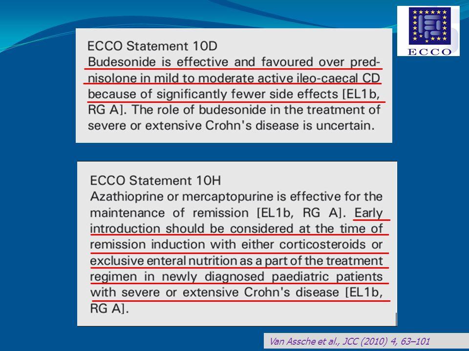 Terapia: - Steroide ad alto dosaggio (1 mg/Kg/die) a scalare - Azatioprina (2 mg/Kg/die) - Nutrizione enterale - Terapia marziale per os Cosa fare?