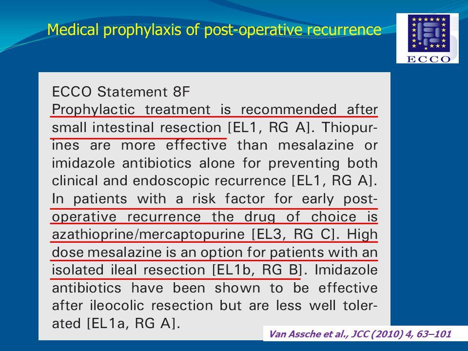 Van Assche et al., JCC (2010) 4, 63–101 Medical prophylaxis of post-operative recurrence