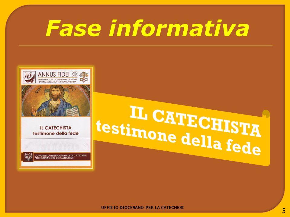 UFFICIO DIOCESANO PER LA CATECHESI 5 Fase informativa