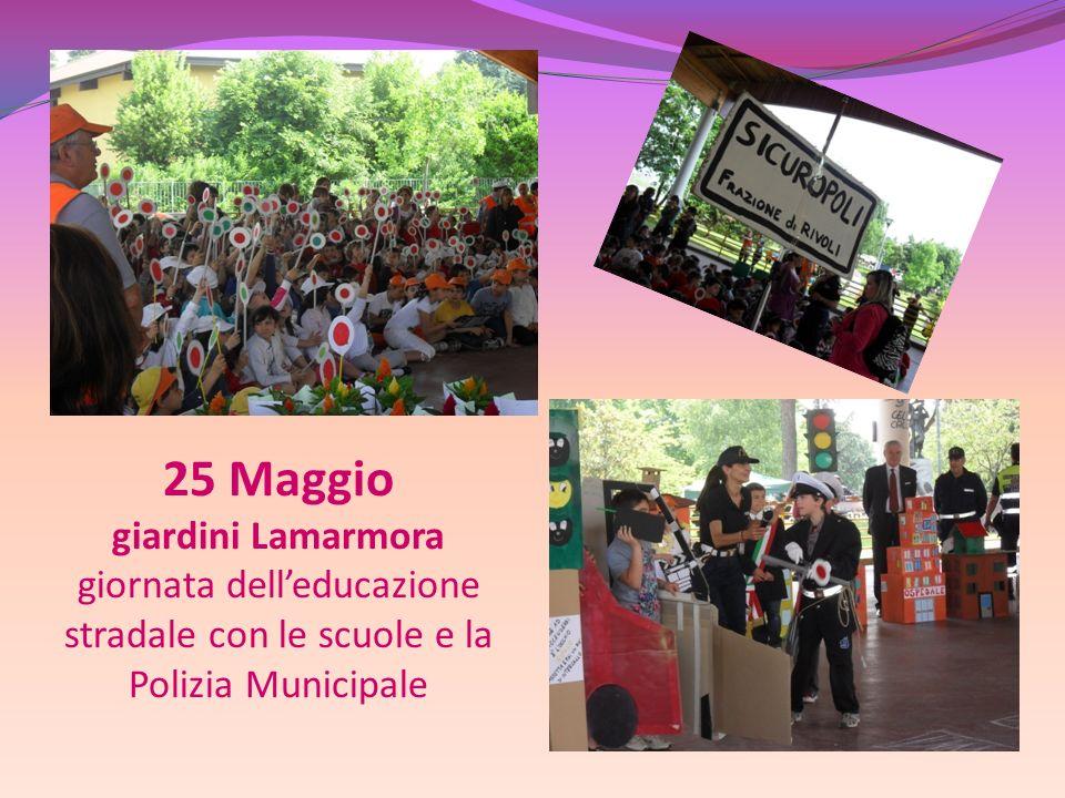 25 Maggio giardini Lamarmora giornata delleducazione stradale con le scuole e la Polizia Municipale