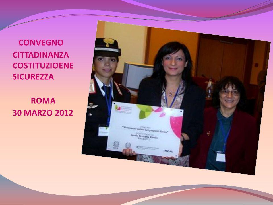 CONVEGNO CITTADINANZA COSTITUZIOENE SICUREZZA ROMA 30 MARZO 2012