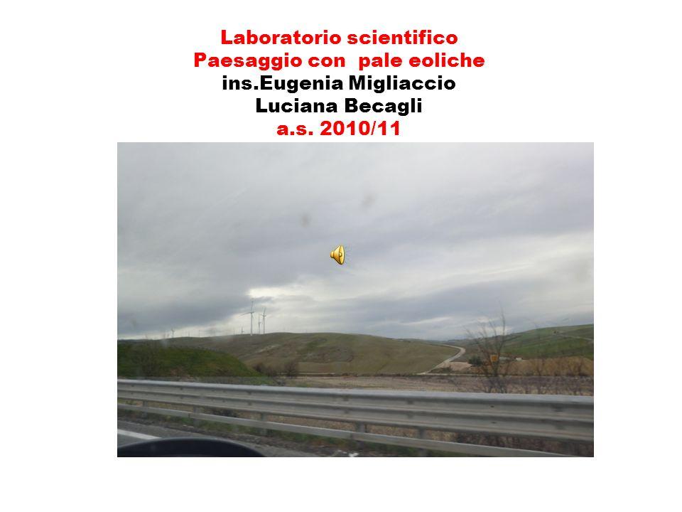 Laboratorio scientifico Paesaggio con pale eoliche ins.Eugenia Migliaccio Luciana Becagli a.s. 2010/11