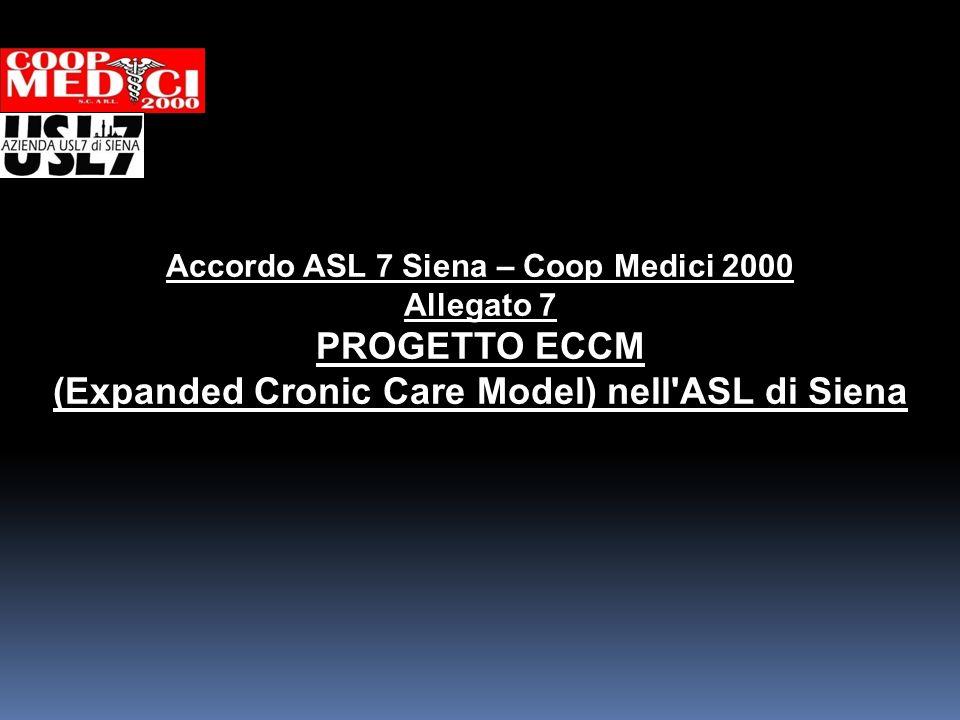 Accordo ASL 7 Siena – Coop Medici 2000 Allegato 7 PROGETTO ECCM (Expanded Cronic Care Model) nell'ASL di Siena