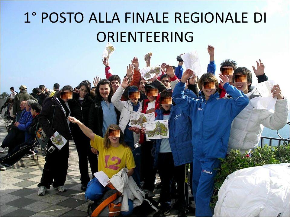 1° POSTO ALLA FINALE REGIONALE DI ORIENTEERING