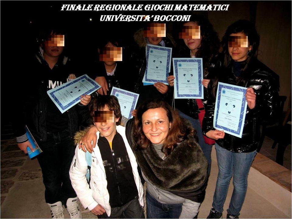 FINALE REGIONALE GIOCHI MATEMATICI UNIVERSITA BOCCONI