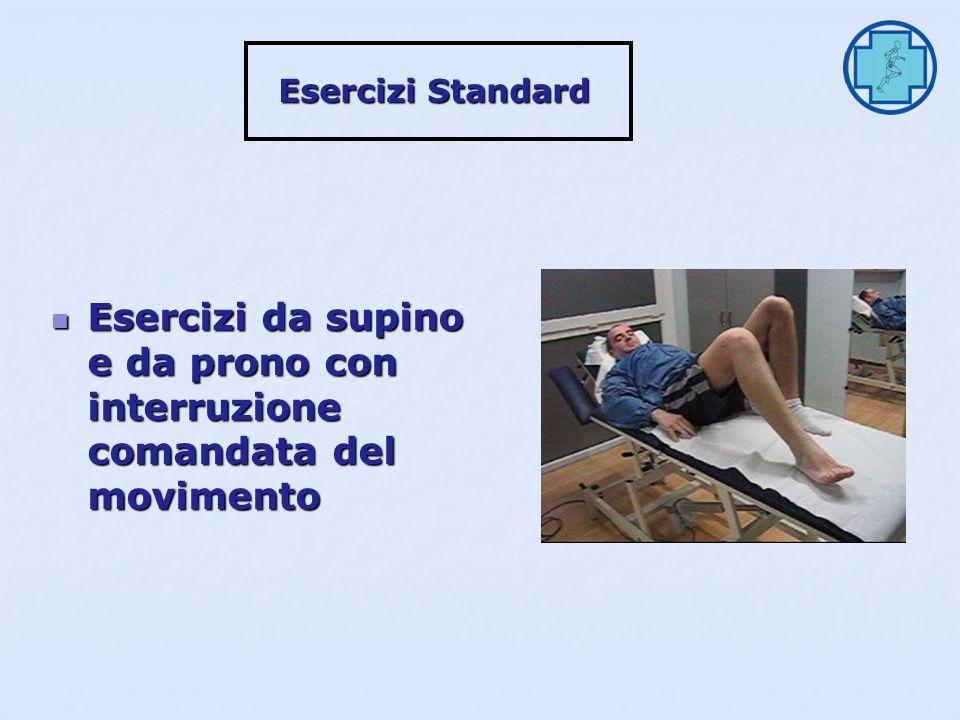 Esercizi in piedi con gestione variabile dellassetto (occhi chiusi) Esercizi in piedi con gestione variabile dellassetto (occhi chiusi) Esercizi Standard