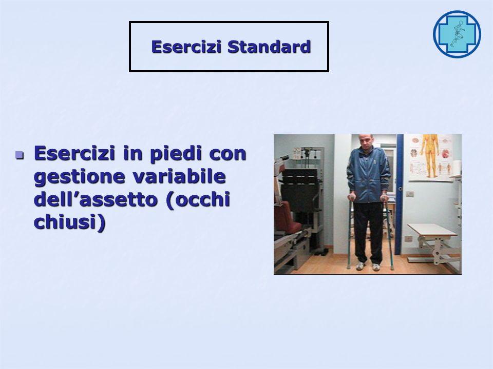 Esercizi contro resistenza isotonica (occhi chiusi) Esercizi contro resistenza isotonica (occhi chiusi) Esercizi Standard