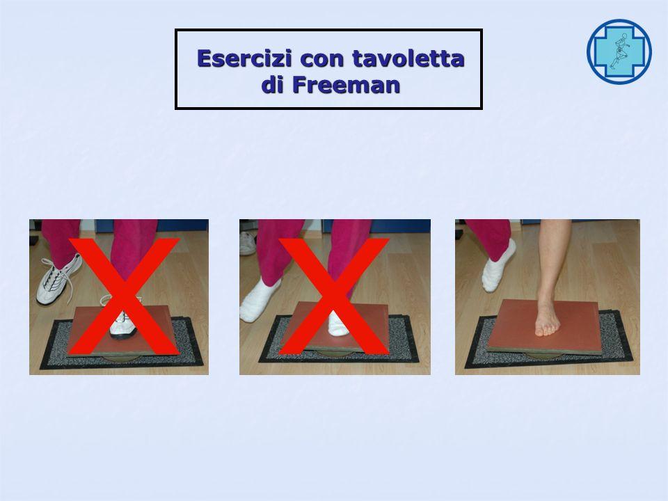 Esercizi monopodalici di stabilità Esercizi monopodalici di stabilità Esercizi con tavoletta di Freeman