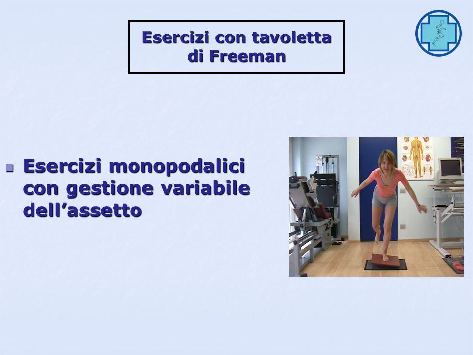 Esercizi con tavoletta di Freeman Esercizi monopodalici ad occhi chiusi Esercizi monopodalici ad occhi chiusi