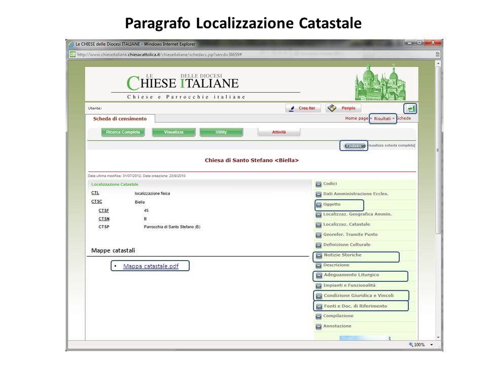 Paragrafo Localizzazione Catastale Mappa catastale.pdf Mappe catastali