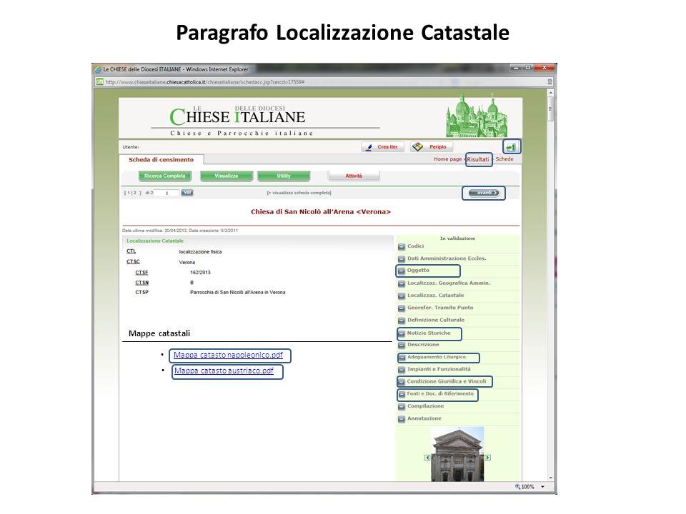 Paragrafo Localizzazione Catastale Mappa catasto napoleonico.pdf Mappe catastali Mappa catasto austriaco.pdf