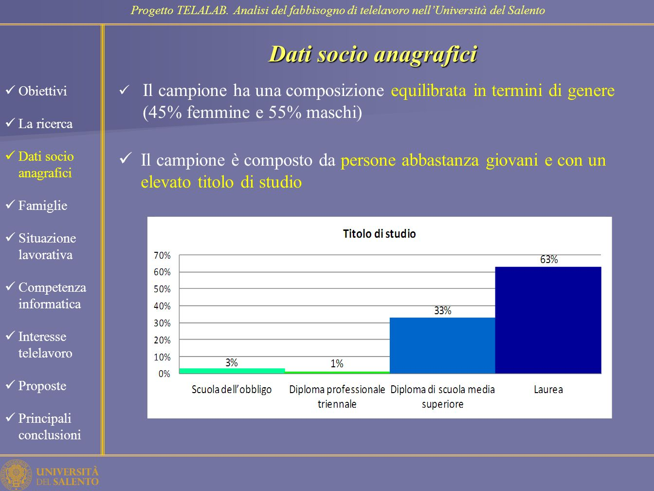 Famiglie Progetto TELALAB.